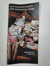 1982 San Francisco Giants 25th Anniversary Collectors Edition Media Guide