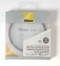 Nikon NC Neutral Color filter protection UV 67mm Camera Photograph