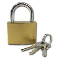 38MM BRASS PADLOCK WITH 3 KEYS LOCKER TRUNK HOLDALL SECURITY