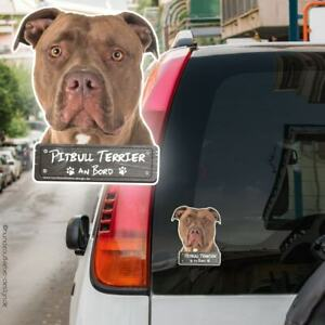 Pitbull Terrier an Bord Autoaufkleber 10x12cm Hundeaufkleber wetterfest 0919