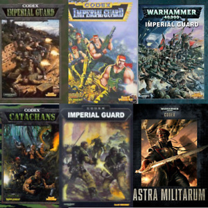 Imperial Guard Astra Militarum CODEX warhammer 40k var editions multi-list OOP