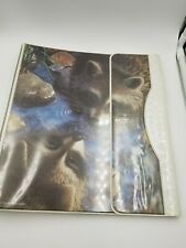 1993 vintage Mead Nature Pals Raccoons 3 Ring Binder with 2 Fold