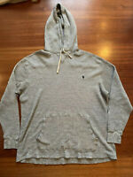 Polo Ralph Lauren Thermal Sweatshirt Hoodie Mens 2XB Sport Heather Grey