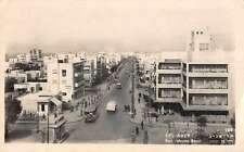 Tel Aviv Israel Ben Jehuda Road Real Photo Antique Postcard J47782