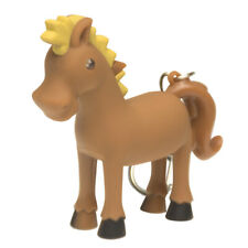 Keygear  Horse  Key Chain with LED Light  Brown/Yellow