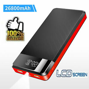 26800mAh PowerBank Charger 18W PD USB-C Fast Charging Battery For iPhone Samsung
