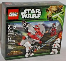 SEALED 75001 LEGO Star Wars Old REPUBLIC TROOPERS vs SITH Army Builder set 63 pc