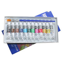 6 ML 12 Colors Professional Acrylic Paints Set Hand Painted Wall Painting T I4D6