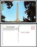 TEXAS Postcard - near Houston, San Jacinto Monument H3