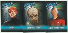 (3) card 1993 Skybox Star Trek: The Next Generation card: Jean-Luc Picard,