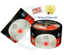 100 HP DVD DVD-R Logo 16X Branded Disc Blank media 4.7GB/120Min