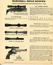 1971 Print Ad of Bushnell Rifle Scopes Banner & Phantom