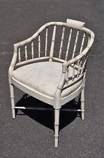 Hollywood Regency Faux Bamboo Italian Painted Armchair