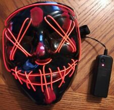 Halloween Mask LED Light Up Several 3 Modes Blinking to Steady New from the Purg