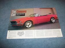 """1969 Ford Mustang Convertible RestoMod Article """"The Company Car"""""""