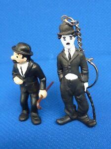 Schleich Charlie Chaplin + Schulze  mit Stock - 2 Figuren - RARITÄT