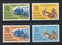36394) KENYA UGANDA TANGANYICA 1963 MNH** Freedom from hunger 4v