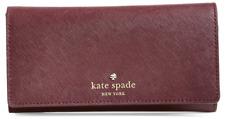 NWT Kate Spade New York Cedar Street Nika Leather Wallet Purse MULLED WINE