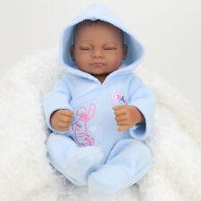 Reborn Babies Toys Doll Black Realistic Vinyl Alive  Silicone Handmade Boy Baby