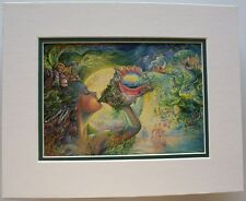 Winged Vision by Josephine Wall Fantasy Abstract Double Matted /& Framed