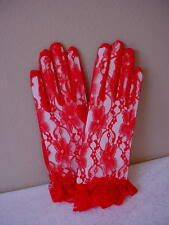 RED HAT LADY LACE GLOVES VICTORIAN LADIES TEA CIVIL WAR RED CAS SASS