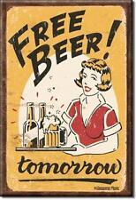 Frei Bier Morgen USA Bar Kneipen Magnet Magnetschild