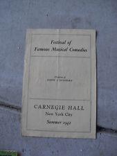 1942 Booklet Carnegie Hall Musical Comedies LOOK