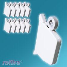 10 Rolladen Mini Gurtwickler inklusive Gurt Rollladen Rollo Wickler 14mm weiß