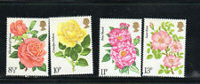 Great Britain #786-789 1978 Royal Rose Society Mint Vf Nh O.G