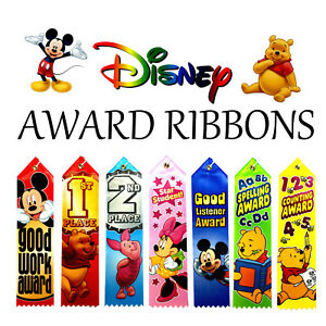 Disney Award Ribbons Children's Party School Contest Ribbon Spelling Art More!