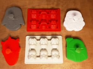 Star Wars Cookie Cutters Stamp Press & Silicone Ice Cube Chocolate Moulds Bundle