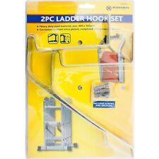 Garage Wall/Ceiling Ladder Hooks Rack Brackets Hangers Secure Storage