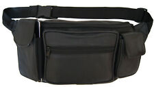 Large Leather Fanny Pack Mens Waist Belt Bag Womens Purse Hip Pouch Travel Ext