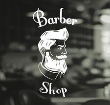Barber Shop Gentlemens Hair Men Salon Window Vinyl Sign Sticker Lettering Beauty