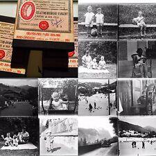 ENFANCE FAMILLE 1930 35 PLAQUES PHOTOS VERRE NEGATIVES 8x9 VUES PHOTOGRAPHIQUES