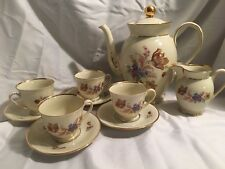 Kjobenhavns Porcellains Malari Coffee Pot 4 Cups/saucers And Mini Creamer