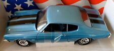 1:18 Ertl American Muscle Blue 1970 Chevelle SS 454 LS6 Item 7474 7487 Chevy