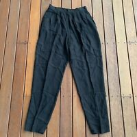 Vintage Size 14 Flirt Black Pants Casual Lounge Light