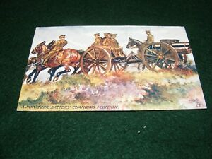 VINTAGE POSTCARD ART WW I MILITARY ARMY HOWITZER BATTERY ARTILLERY SOLDIERS TUCK
