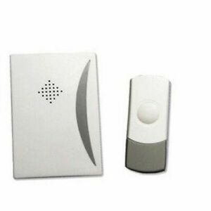 WIRE FREE WIRELESS DOOR CHIME SET KIT 25 TUNES SOUNDS BELL BATTERY OPERATED xmas