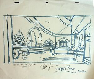 The Life & Times of Juniper Lee SIGNED STEPHEN LEWIS Production Background  #SL