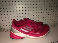 Adidas AdiZero Tempo 6 Womens Athletic Running Training Shoes Size 8 Pink Gray