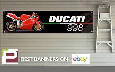DUCATI 998 MOTO banner per Officina, Garage, Pit Lane, 1300mm x 325mm