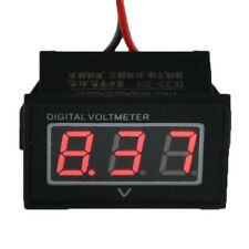 New Red Monitor 12 Volt Battery Meter DC Auto Gauge Waterproof Digital Voltmeter