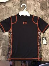NWT UNDER ARMOUR Boys size 4 CAMO Performance Shirt Retails 30