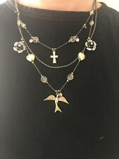 """BETSEY JOHNSON 16"""" Charm Necklace with Betsey Hinged box"""