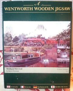 Wentworth Midland Revival Wood Jigsaw Puzzle 250 Pce LMS Train Barge Canal RARE