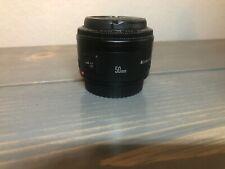 Canon Lens EF 50mm 1:1.8 II  0.45m/1.5ft For Canon AF Black