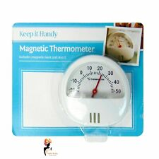 MINI MAGNETIC THERMOMETER With Stand Room Home  Fridge Temperature Gauge Dial