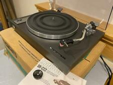SANSUI SR-222 TURNTABLE New Belt/New AT91R BOXED/Manual Working well